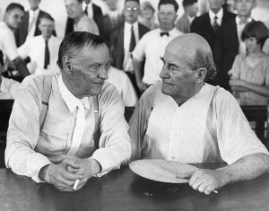 Clarence Darrow and William Jennings Bryans (1925) Tennessee Scopes Trial