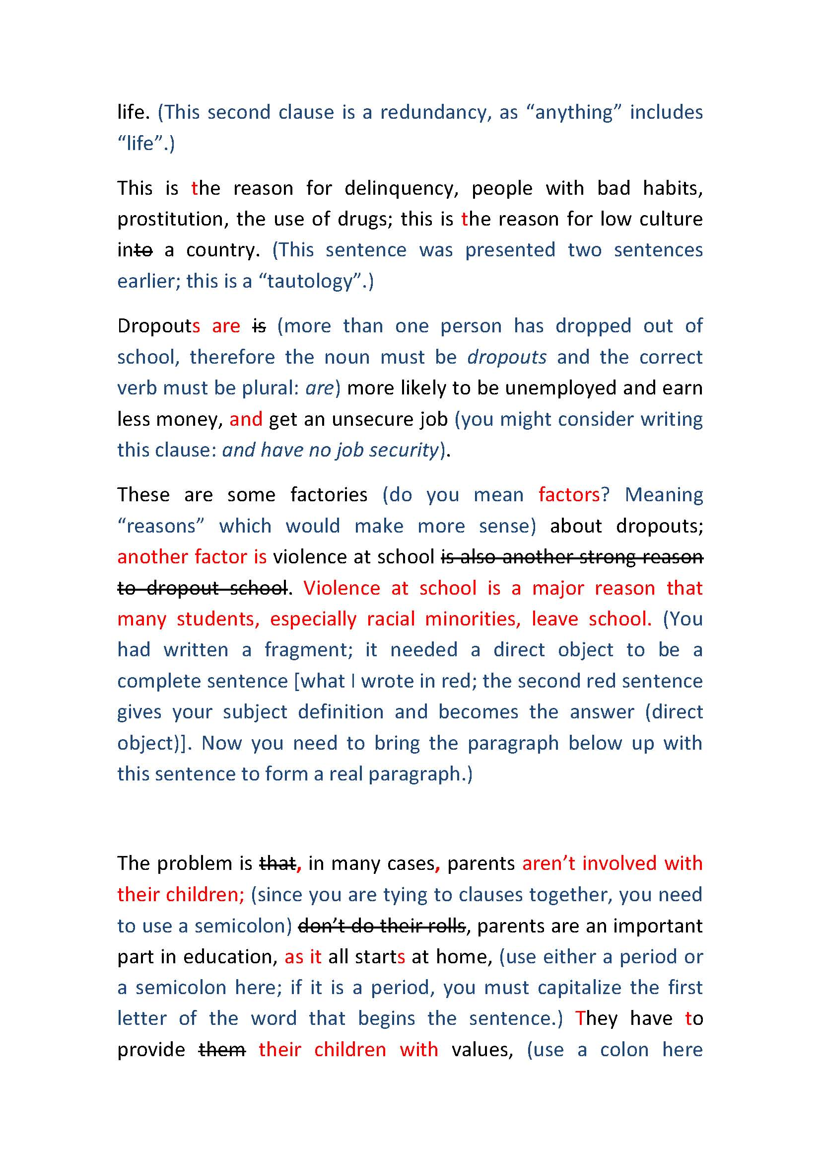 dropouts high school statement thesis Understanding the effect of high school dropout is disaggregation by reason for dropout thesis submitted to the faculty of the graduate school of the.