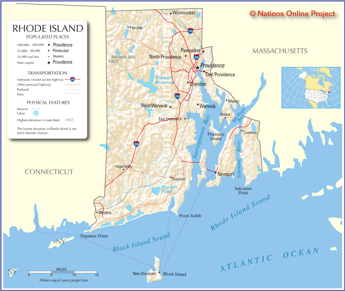 Jessica Ahlquist And Rhode Island Roman Catholics The Attack On - Usa map rhode island