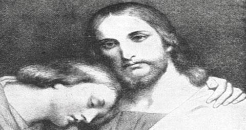 John the Beloved rests on Jesus' chest