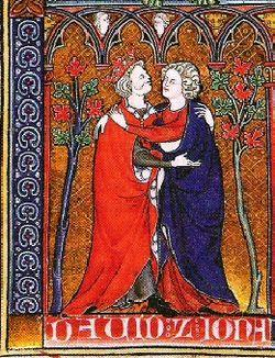 David loved Jonathan (medieval marginalia)