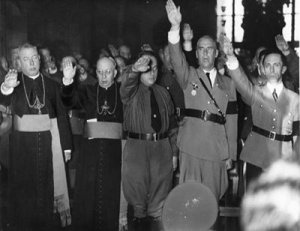 Nazi Roman Catholic clergy (Ratzinger 3rd from left)