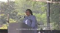 Corretta Scott King speaks at the 1996 Atlanta Lesbian Gay Pride Festival in Piedmont Park