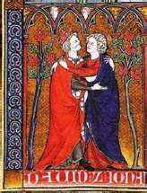 David loved Jonathan (medieval manuscript marginalia)