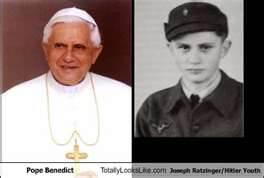 Joseph Ratzinger as Pope and NAZI youth leader