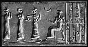 Allah (god of the moon) and his three daughters (goddesses)