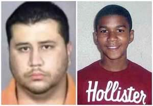 George Zimmerman (left) shot and killed unarmed Trayvon Martin (right)
