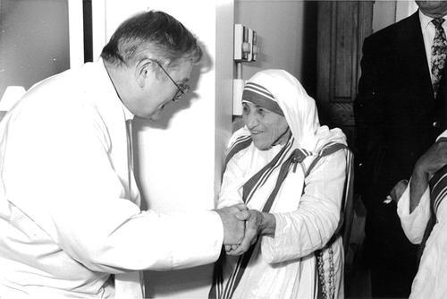 Mother Teresa with Father Donald McGuire, a convicted child molester who ministered to her nuns. Courtesy Tyrone Cefalu