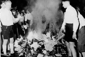 Nazi Youth burn books from German libraries