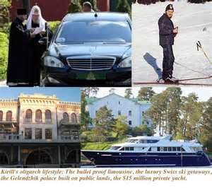 Moscow billionaire Patriarch Kirill of the Russian Orthodox Church enriched by illegally selling cigarettes