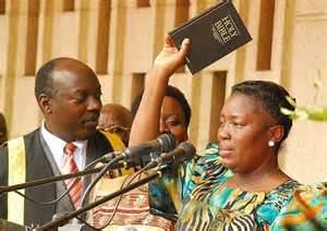Theocrat Speaker of Parliament of UgandaRebecca Alitwala Kadaga bases her government on Old Testament and Pauline hate.