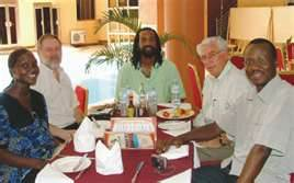 Scott Lively (2d left) in Uganda with other USA evangelical ministers pushing for Kill the Gays legislation