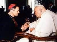 Bishop Paprocki with John Paul II