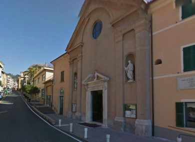 San Terenzio church where Father Corsi pinned his Christmas message. (Image Google Maps)