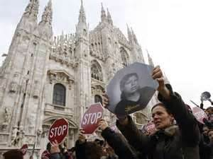 March against women-killing in Italy by husbands or boyfriends (2012)