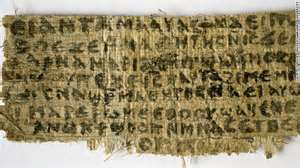 Coptic fragment referring to Jesus wife (or partner?)