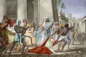 Hypatia killed by Christians in Alexandria, Egypt on order of the Coptic Pope