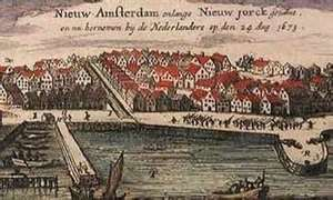 Jews found a home in New York (August 1654 drawing)